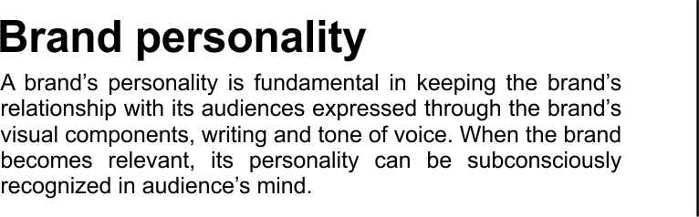 text brand personality